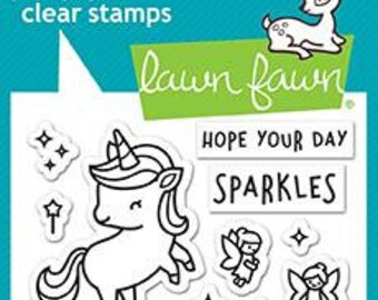 Lawn Fawn-A Little Sparkle-Clear Stamp Set