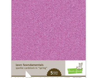 Lawn fawn - 8.5 x 11 Cardstock Pack - Spring Sparkle