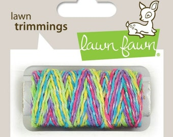 Lawn Fawn - Lawn Trimmings - Bakers Twine Spool - Unicorn Tail  Sparkle cord