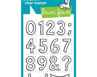 Lawn Fawn - Clear Photopolymer Stamps - Quinn's 123s