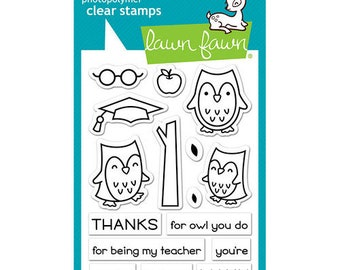 Lawn Fawn - Clear Photopolymer Stamps - So Owlsome