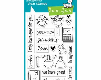 Lawn Fawn - Clear Acrylic Stamps - Science of Love