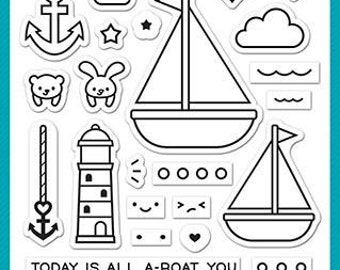 Lawn Fawn-smooth sailing-Clear Stamp Set