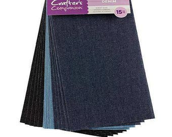 Crafter's Companion-Denim Sheets- 15 pc