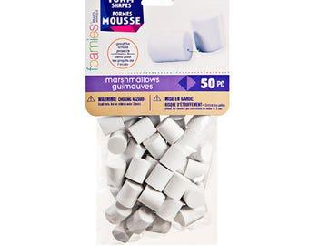 Darice-Foamies Marshmallow- 50pc