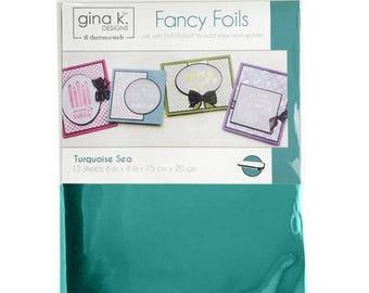 Therm O Web - Fancy Foils - 6 x 8 - Turquoise Sea
