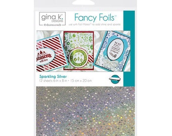 Therm O Web - Fancy Foils - 6 x 8 - Sparkling Silver