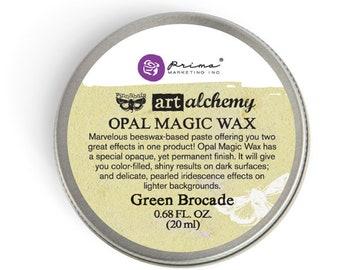 Prima - Finnabair - Art Alchemy - Opal Magic Wax - Green Brocade