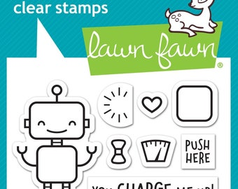 Lawn Fawn - charge me up - clear stamp set - preorder