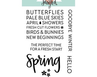 Neat and Tangled -HELLO SPRING- Clear Stamp Set