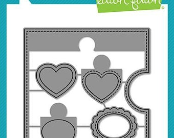 Lawn Fawn - Lawn Cuts - Dies - Reveal Wheel - Square Add-On