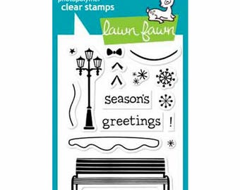 Lawn Fawn - Clear Acrylic Stamps - Winter in the Park