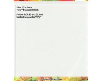Tim Holtz - Alcohol Ink Translucent Yupo Paper 104lb 5/Pkg