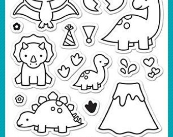 PREORDER-Lawn Fawn-Clear Acrylic Stamps-Rawrsome