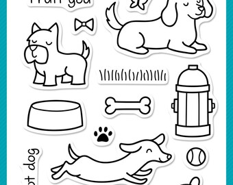 Lawn Fawn - Critters At The Park - clear stamp set