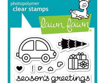 Lawn Fawn - Christmas - Clear Photopolymer Stamps - Home for the Holidays