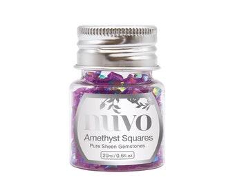 Nuvo - Pure Sheen Gemstones - Amethyst Squares