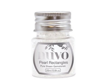Nuvo - Pure Sheen Gemstones - Pearl Rectangles