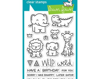 Lawn Fawn - Clear Acrylic Stamps - Wild for You