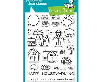 Lawn Fawn - Clear Acrylic Stamps - Happy Village
