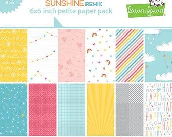 Lawn Fawn - hello sunshine remix petite paper pack - preorder