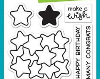 Lawn Fawn - Clear Acrylic Stamps - How You Bean Stars Add-On
