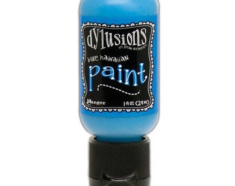 Ranger Ink - Dylusions Paints - Flip Cap Bottle -Blue Hawaiian