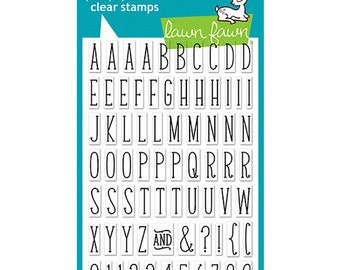Lawn Fawn - Clear Photopolymer Stamps - Violet's ABCs