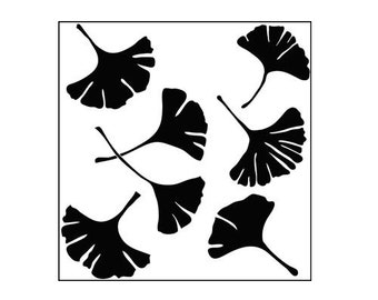 The Crafter's Workshop - 12x 12 Doodling Templates - Ginkgo Leaves