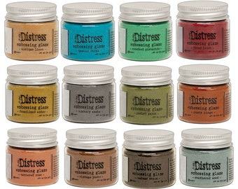 PRE-ORDER-Tim Holtz-Distress Embossing Glaze-12 Color Bundle
