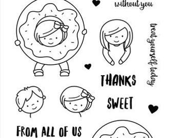 Neat and Tangled- Say Yes To Donuts- Clear Stamp