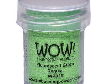 Wow-Embossing Powder-FLUORESCENT GREEN-Regular
