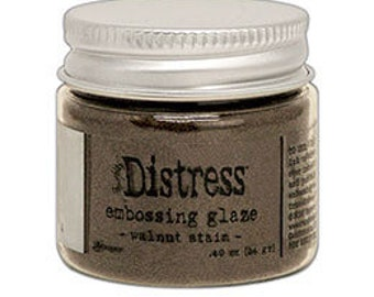 Tim Holtz Distress Embossing Glaze-Walnut Stain