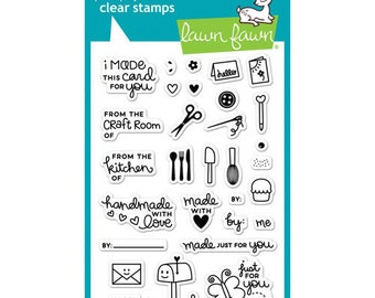 Lawn Fawn - Clear Photopolymer Stamps - Just for You