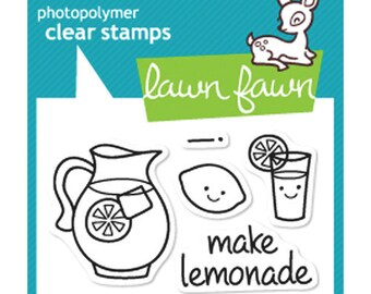 Lawn Fawn - Clear Photopolymer Stamps - Make Lemonade