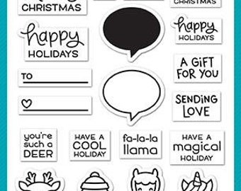 Lawn Fawn - Clear Photopolymer Stamps - Say What - Christmas Critters