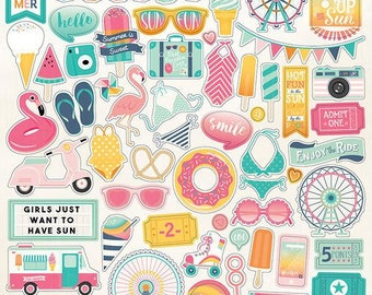 Echo Park - Summer Dreams Collection - 12 x 12 Cardstock Stickers - Elements
