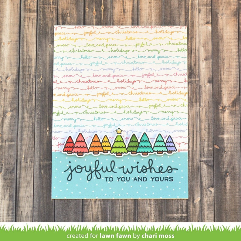 Christmas Lawn Fawn Clear Photopolymer Stamps Simply Winter Sentiments