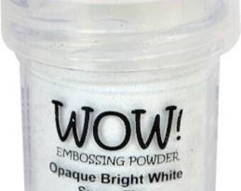 WOW -Embossing Powder- Opaque Bright White Super Fine