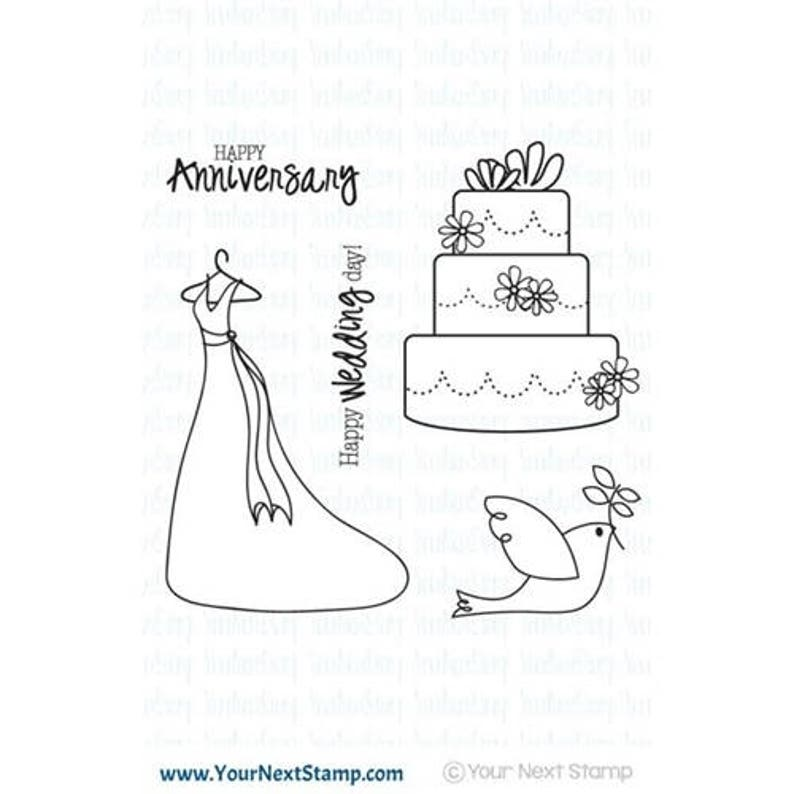 Your Next Stamp WEDDING BLISS Clear