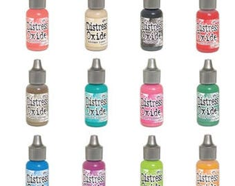 Tim Holtz Distress Oxide Reinkers Set Of 12 Ranger (in stock)