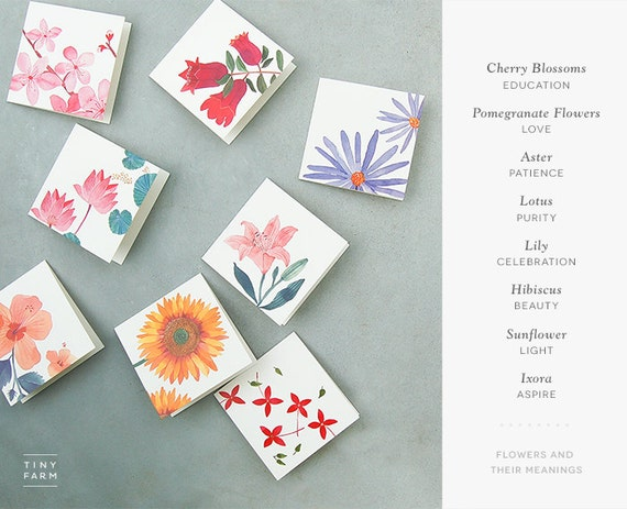floral watercolor gift tags blank folded gift tags holiday etsy
