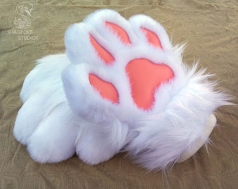 Puffy Canine Cartoon Paw Hands - Made to Order