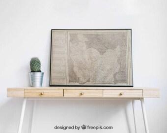 1918 Vintage Map - Persia/Afghanistan/Baluchistan and Artic/Antartic Regions/Vintage Epherma/Scrapbooking/Junk Journal