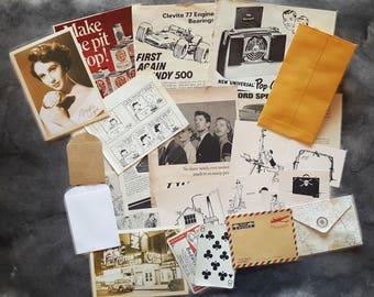 Vintage Paper Pack for Junk Journaling/Collaging/Scrapbooking/Art Journaling/Paper Destash