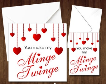 Wife christmas card etsy you make my minge twinge rude funny comical cheeky card birthday valentines day christmas anniversary couple fiance wife girlfriend naughty m4hsunfo