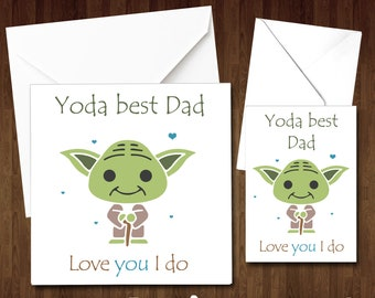 Yoda Best Dad Birthday Card Fathers Day Christmas Funny Cute Love You I Do Daddy Comical Joke Alternative From Kids For Him Gift Parent Fun
