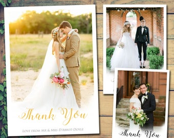 Wedding Thank You Cards Etsy Uk