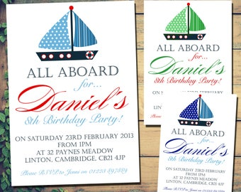 nautical invitation etsy
