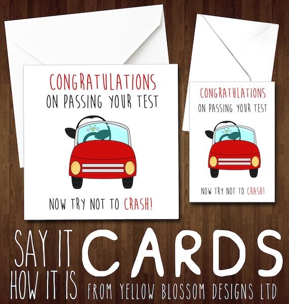 Félicitations pour passer votre examen de conduite fille garçon personnalisé fait main Carte
